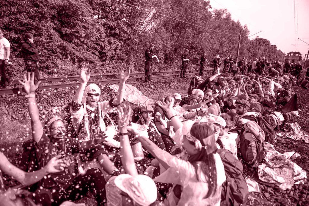 Foto Blockade Ende Gelände | Gerechtigkeit
